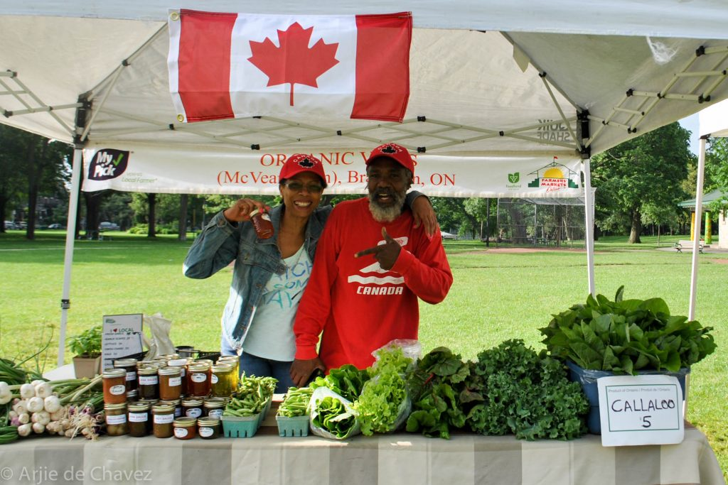 Anette and Desmond from organic vibes farm