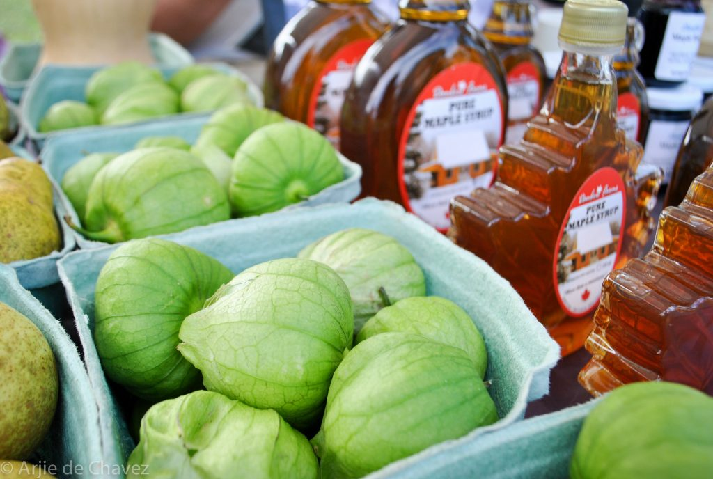 maple syrup and tomatillos