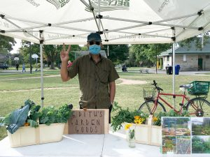 Urban Grower, Wil, on his first market day