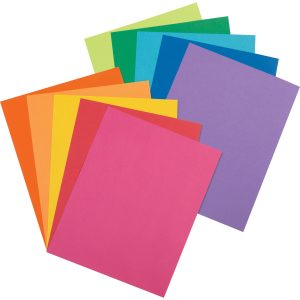 coloured card stock paper